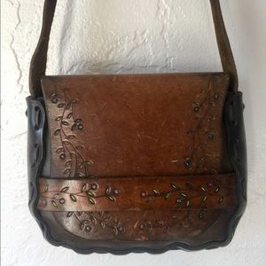 Vintage Stamped Leather Purse